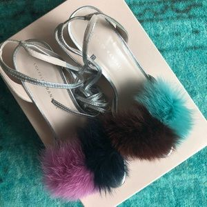 Loeffler Randall Nicky Block Heel Sandal Fur 7